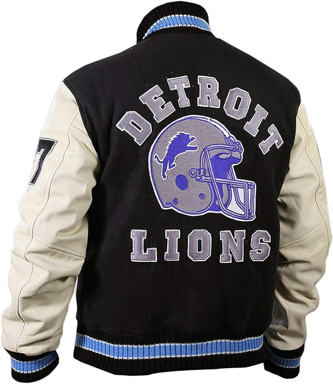 Beverly Hill Cops Axel Foley Eddie Murphy Detroit Bomber Black Wool Jacket for Men