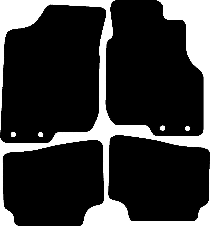Black with Black Trim 5 mm Rubber Connected Essentials CEM550 Car Mat Set for Defender 1990-2006