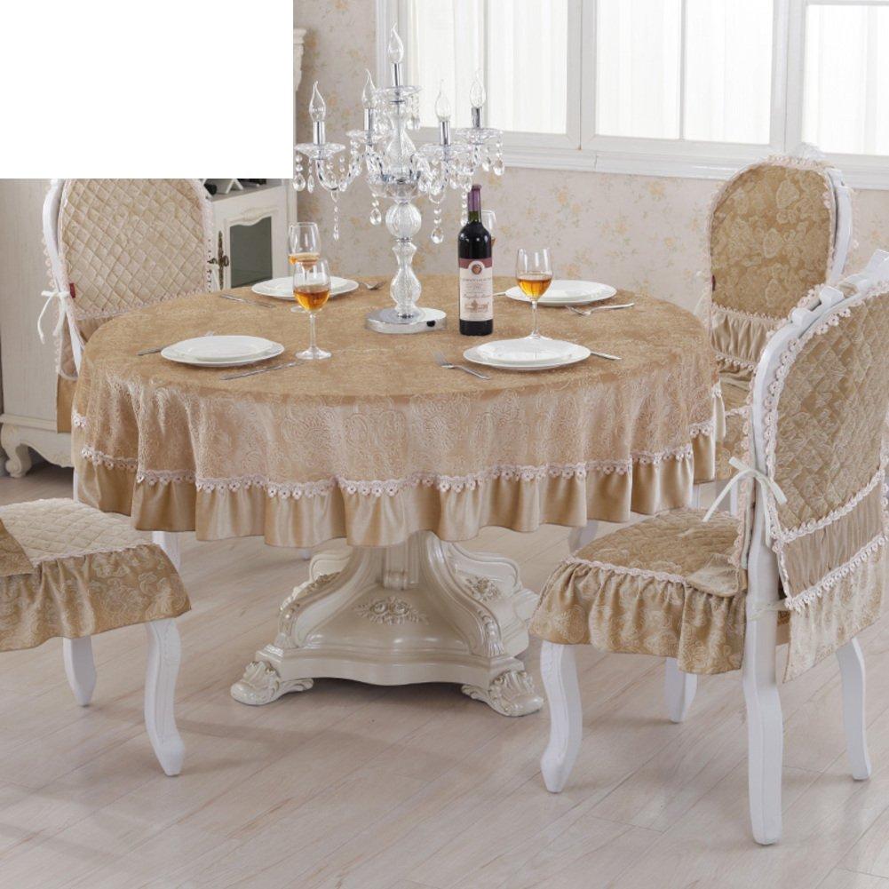 B Durchmesser195cm(77inch) European-Style Luxus Tuch  Living Room minimalistischen Tischdecke  moderne Volltonfarbe Tischdecke Allgemeine Dicke Tischwäsche Rundtischdecken-B Durchmesser195cm(77inch)