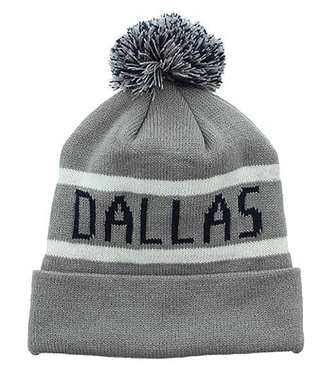 f2b0ed0d17e Milani Winter Dallas Thick Pom Beanie with Cuff Skull Cap Hat Gray Black