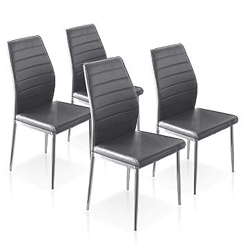 SuenosZzz - Pack sillas (x4) Cloud Color Gris, para Comedor ...