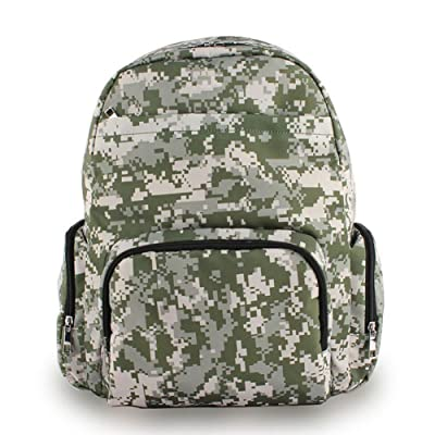 YOURNELO Men's High Capacity Camouflage Backpack Fashion Travel Bag