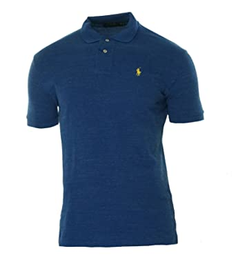 Polo Ralph Lauren Mens Classic-Fit Mesh Short sleeve Polo (Sapphire Heather)