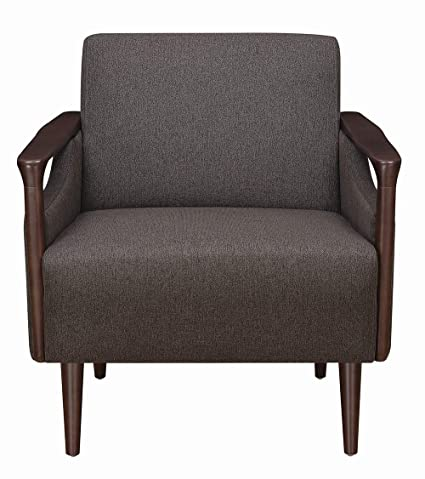 Excellent Scott Living Accent Chair Brown Woven Fabric Upholstery Andrewgaddart Wooden Chair Designs For Living Room Andrewgaddartcom