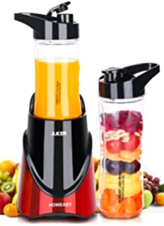Amazon jack lalanne power juicer electric centrifugal juicers homeasy personal blender electric fruit smoothie juice mixer with 2 travel lid portable sport drink bottle fandeluxe Images