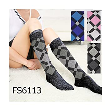 TrAdE shop Traesio- Calcetines Larga de Mujer Larga 12 Pares calcetín fs6113 Rombos Grandes: Amazon.es: Electrónica