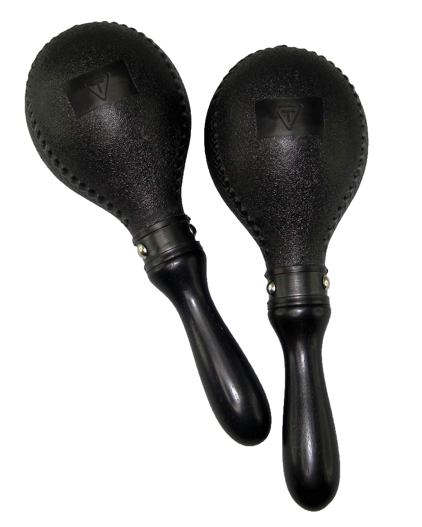 Tycoon Percussion TMP-DB Double Black Plastic Maracas
