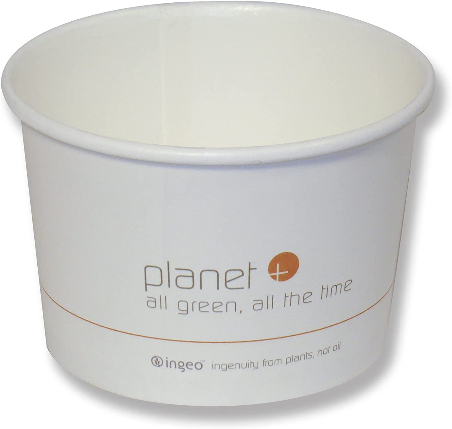 Planet+ 100% Compostable PLA Laminated Food Container, 16-Ounce, 500-Count Case