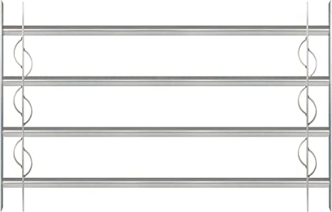 600 x 700-1050 mm Einbruchschutz Gitter ausziehbar f/ür Fenster au/ßen galvanisch blau verzinkt GAH-Alberts 563653 Fenstergitter Secorino Style