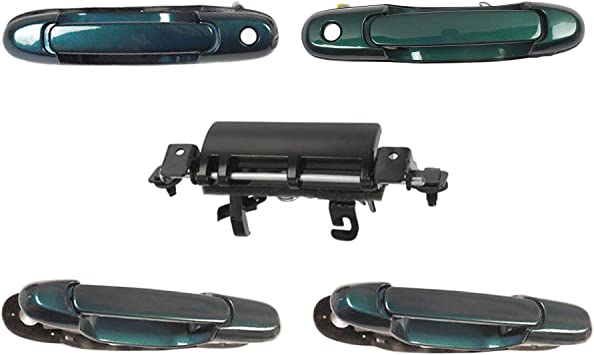 98-03 For Sienna /& Lifegate 5 PCS 6P2 GREEN PEARL Outside Door Handle DS456