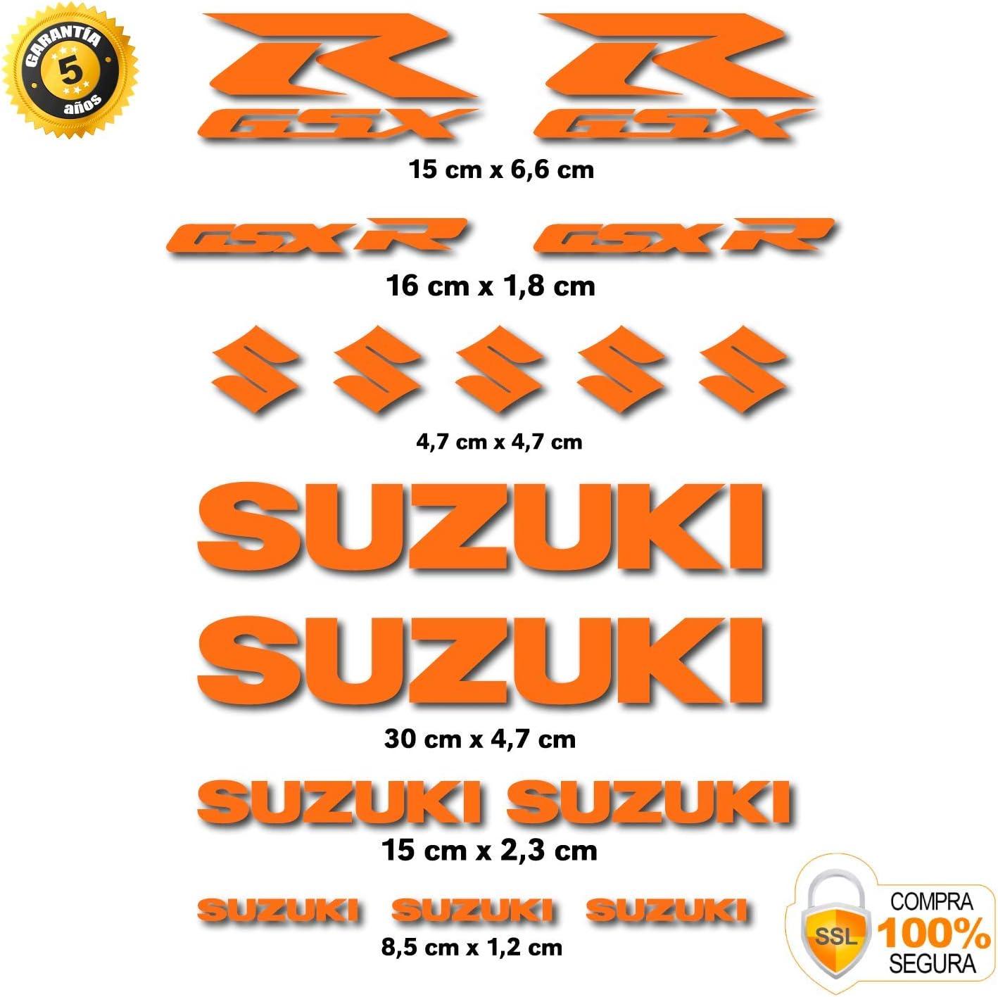 Aufkleber passend f/ür Suzuki GSX R Vinyl gestanzt 16 St/ück Dunkelgr/ün 14 Farben erh/ältlich