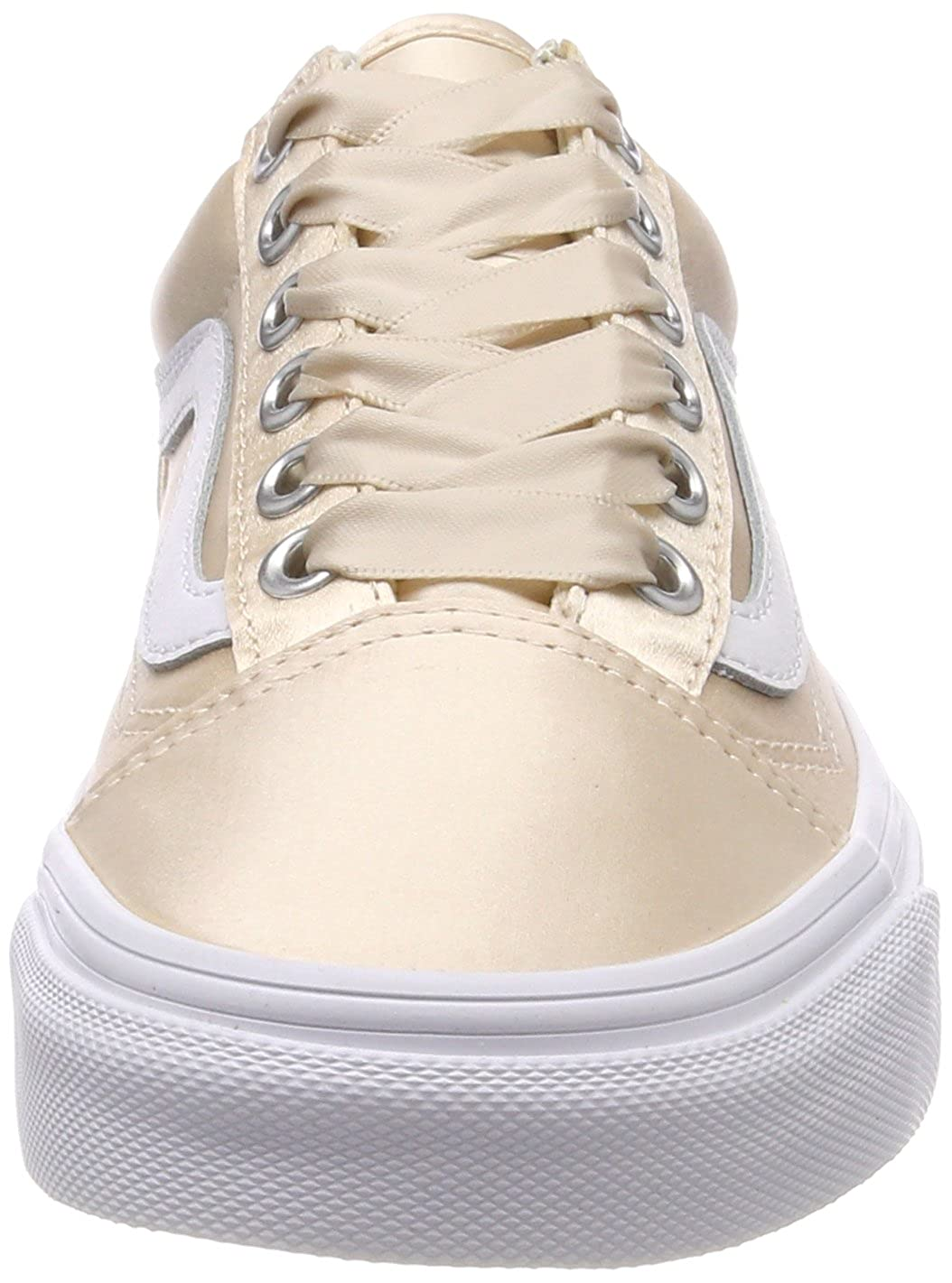 Vans Women s Old Skool Trainers Pink ((Satin Lux) Blush True White R1g) 8  UK  Buy Online at Low Prices in India - Amazon.in fbd0168cd