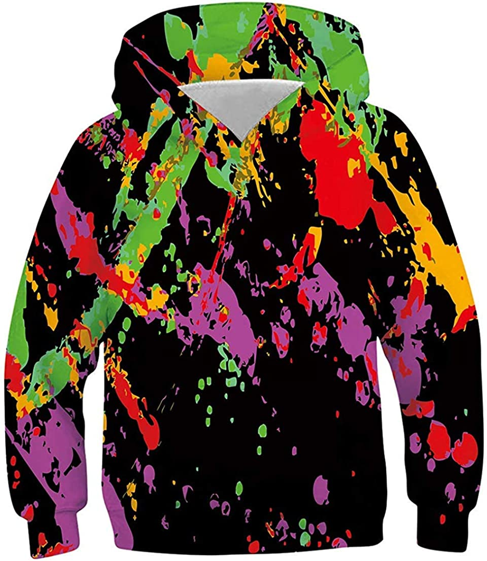 GETTOGET Unisex Fashion Hoodies 3D Printed Hooded Sweatshirts Pullover Casual Spring Autumn for Teens Kids