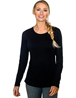 996455f77 Woolx Remi - Women's Long Sleeve Tee - Lightweight, Moisture Wicking -  Merino Wool Top