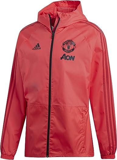 adidas Official Mens Manchester United FC Winter Football Training Jacket Blue