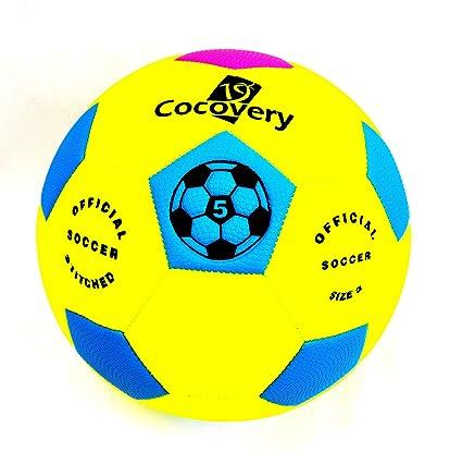 Balón Fútbol Playa-Neón-Cocovery19 (Amarillo): Amazon.es: Deportes ...