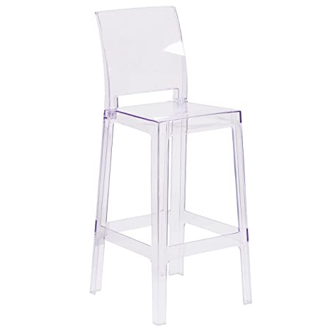 Amazon.com: flash furniture Ghost taburete de Bar con ...