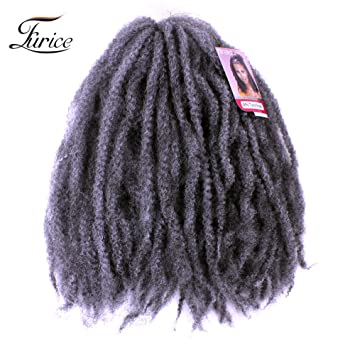Amazon.com : Furice 16Inch Crochet Weave Afro Kinky Curly Braiding ...