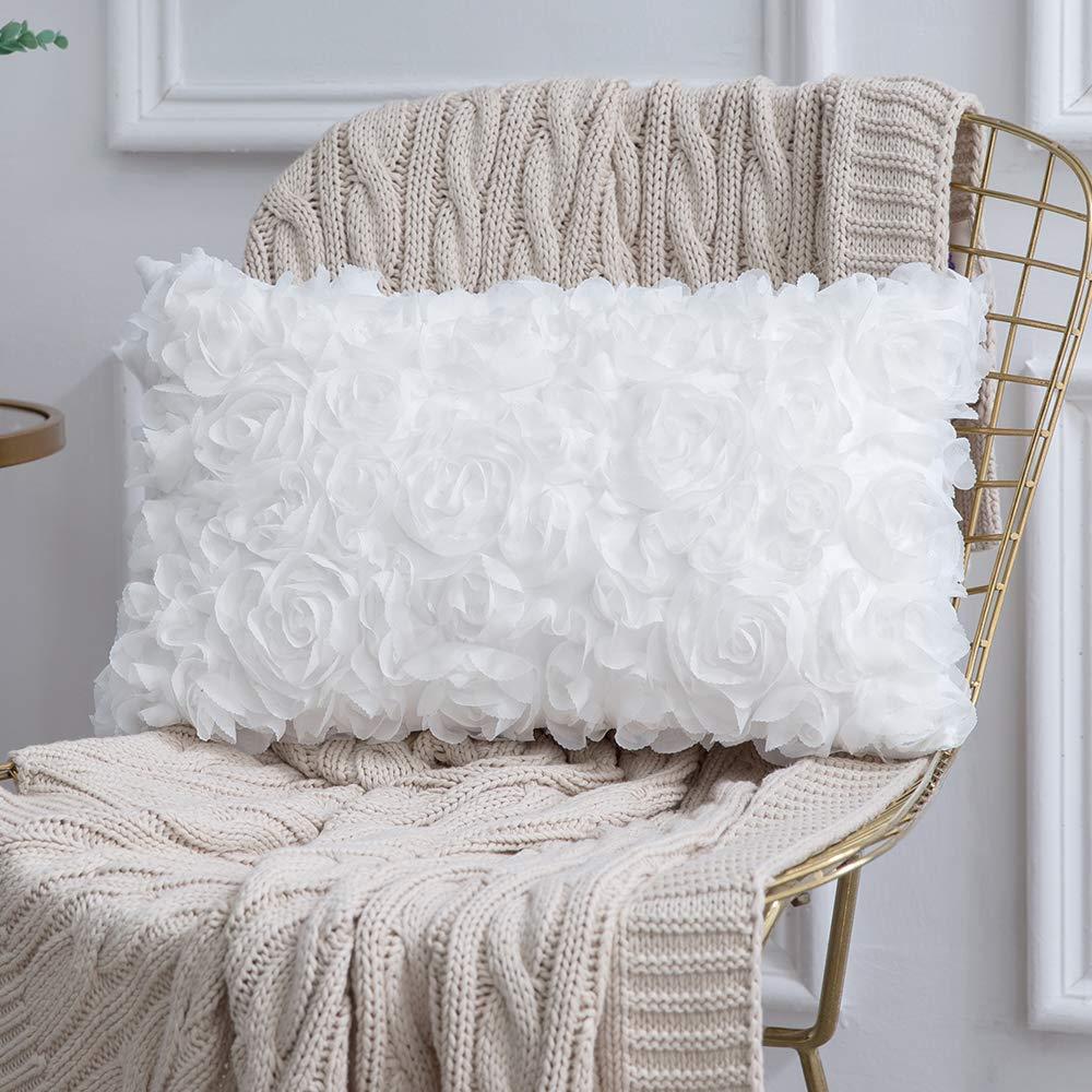 Amazon.com: MIULEE - Funda de almohada cuadrada de gasa con ...