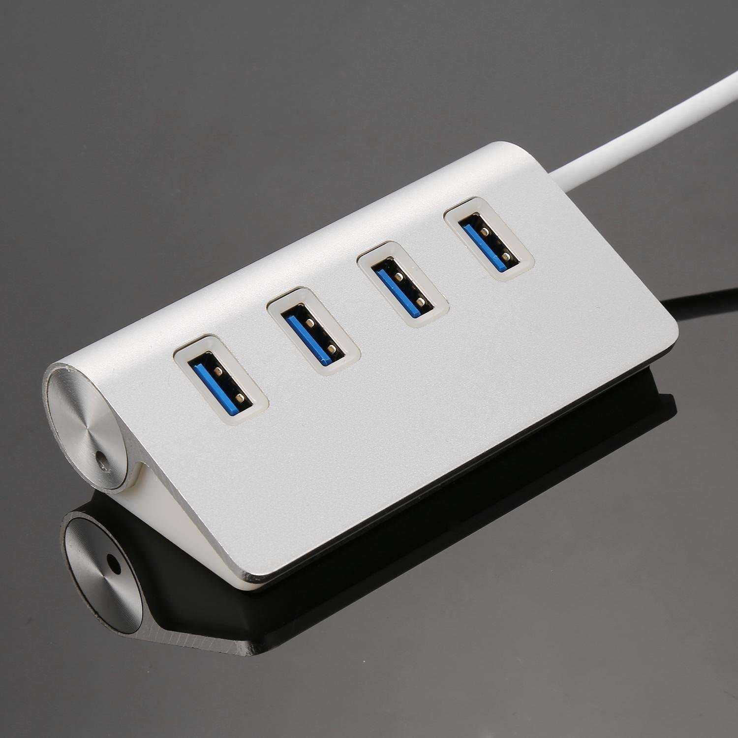 Ouyilu New 4 Port Aluminum Alloy USB 3.0 Concentrator High Speed For PC Laptop