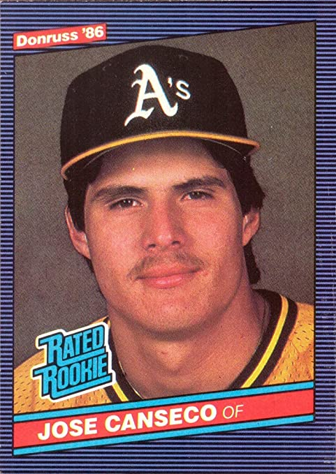 1986 Donruss Baseball 39 Jose Canseco Rookie Card