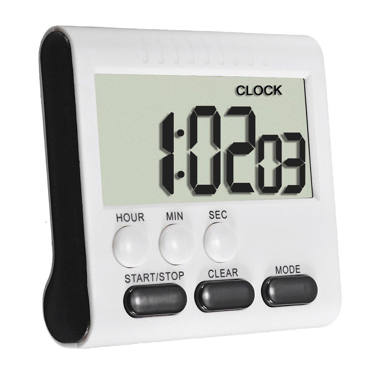 ELEGIANT Kitchen Timer Alarm Magnetic Large LCD Digital Count Up ...