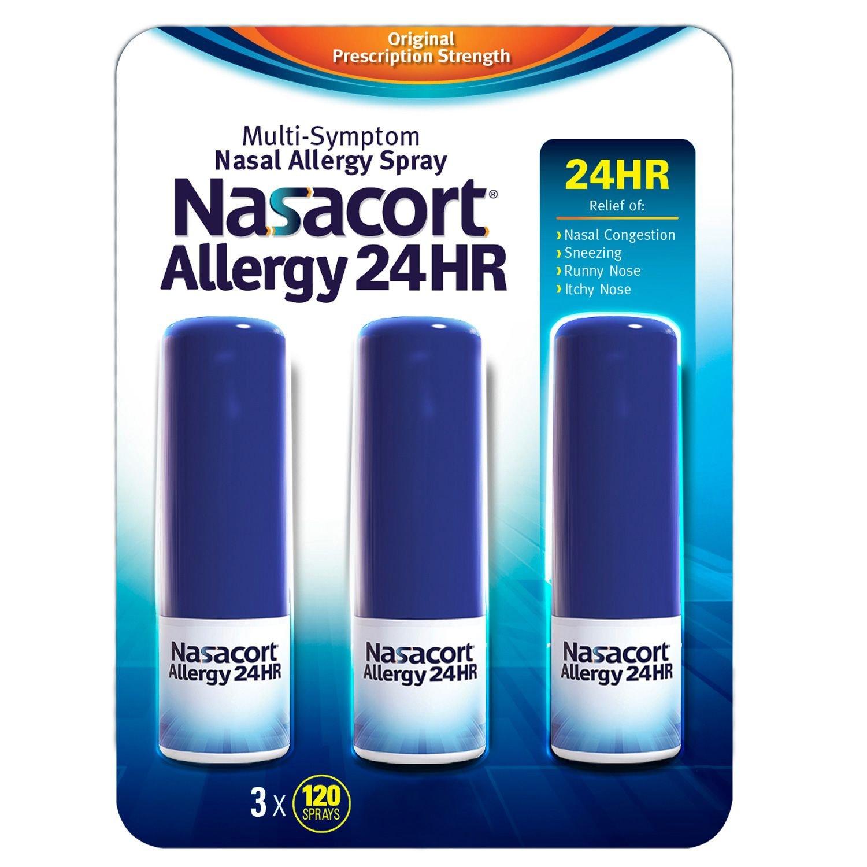 Nasacort Allergy 24hr Non-Drip Nasal Spray (120 sprays, 6 pk.) by Nasacort by Nasacort