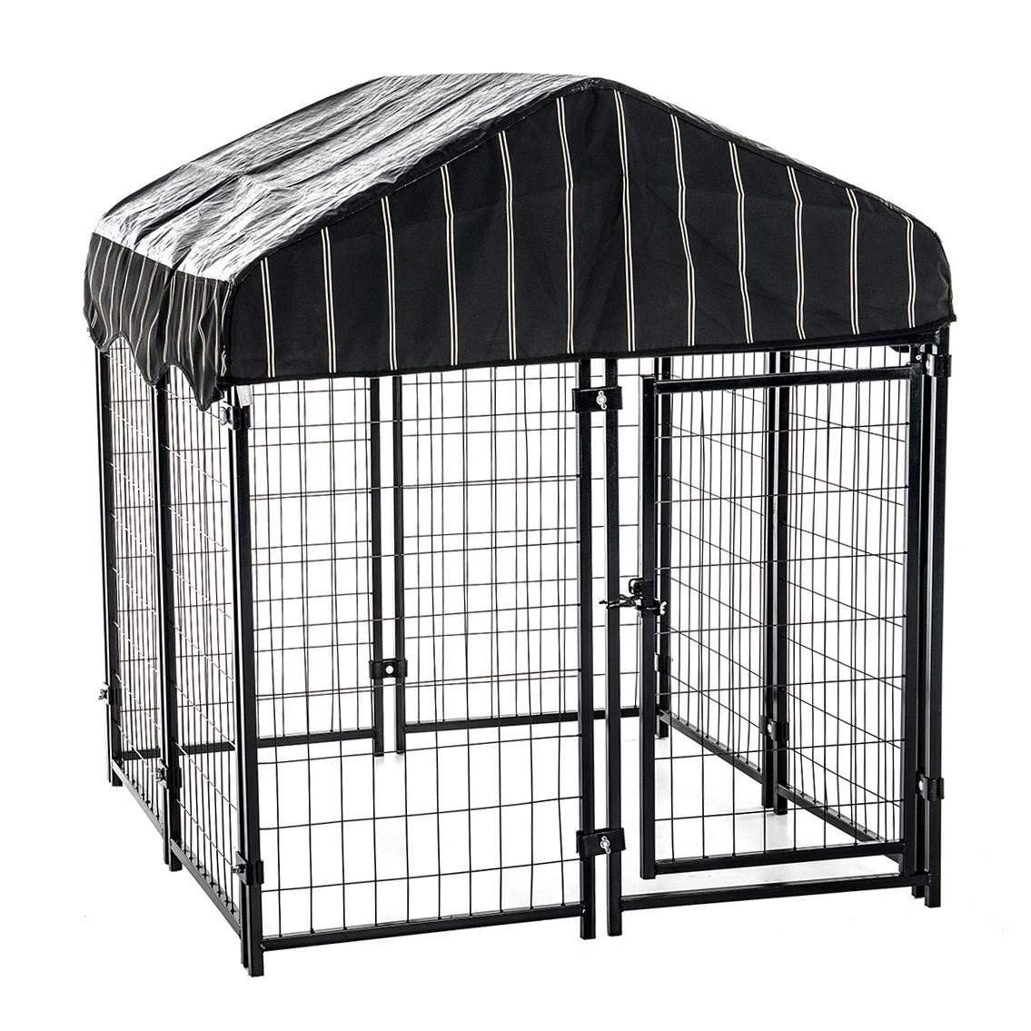 Lucky Dog 4'6''H x 4'L x 4'W Heavy Duty Covered Welded Wire Dog Fence Pet Kennel by Lucky Dog