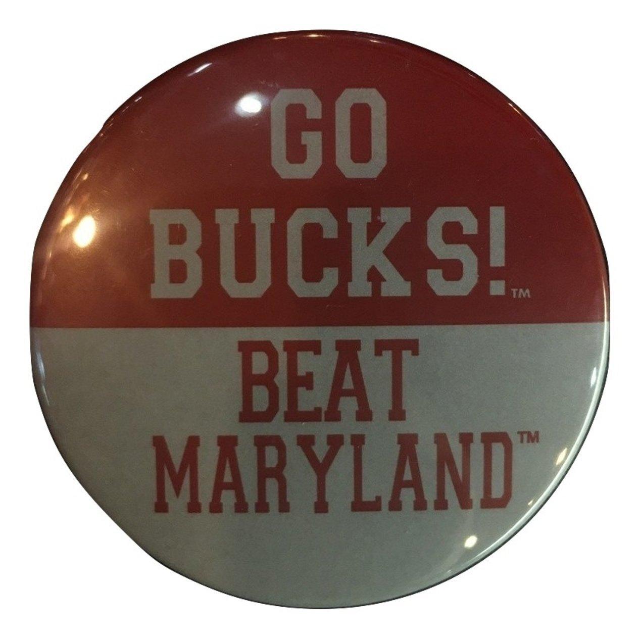 Ohio State Buckeyes Gameday Button, Go Bucks Beat Maryland   B01G4EGUUE
