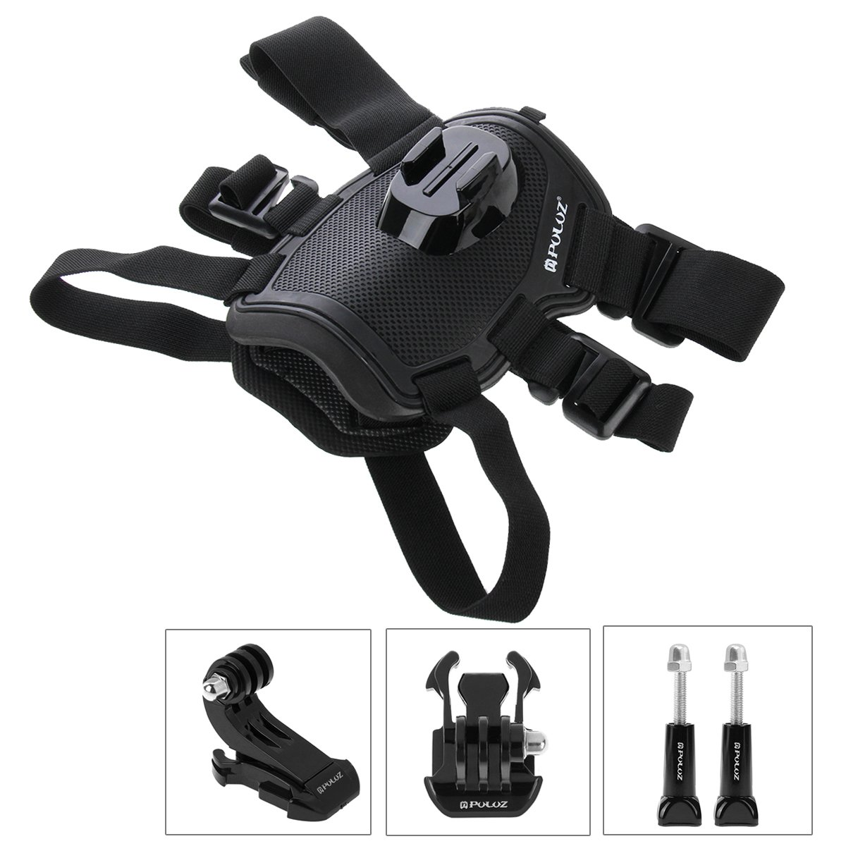 PULUZ Hound Dog Harness Adjustable Chest Strap Mount Belt Fetch Mount for GoPro Hero 6/5 /5 Session /4 Session /4/3+ /3/2 /1, Xiaoyi and Other Action Cameras (Dog Harness)