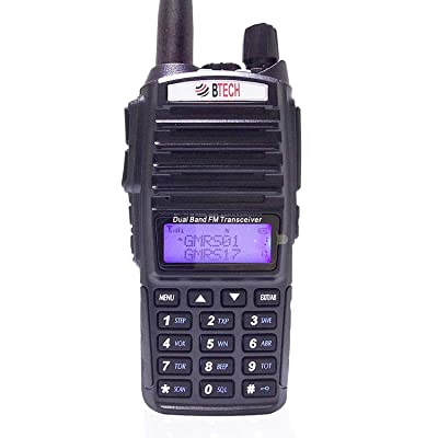 BTECH GMRS-V1 GMRS Two-Way Radio, GMRS Repeater Capable, with Dual Band Scanning Receiver (136-174.99mhz (VHF) 400-520.99mhz (UHF)): Car Electronics