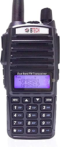 BTECH GMRS-V1 GMRS Two-Way Radio, GMRS Repeater Capable, with Dual Band Scanning Receiver 136-174.99mhz VHF 400-520.99mhz UHF