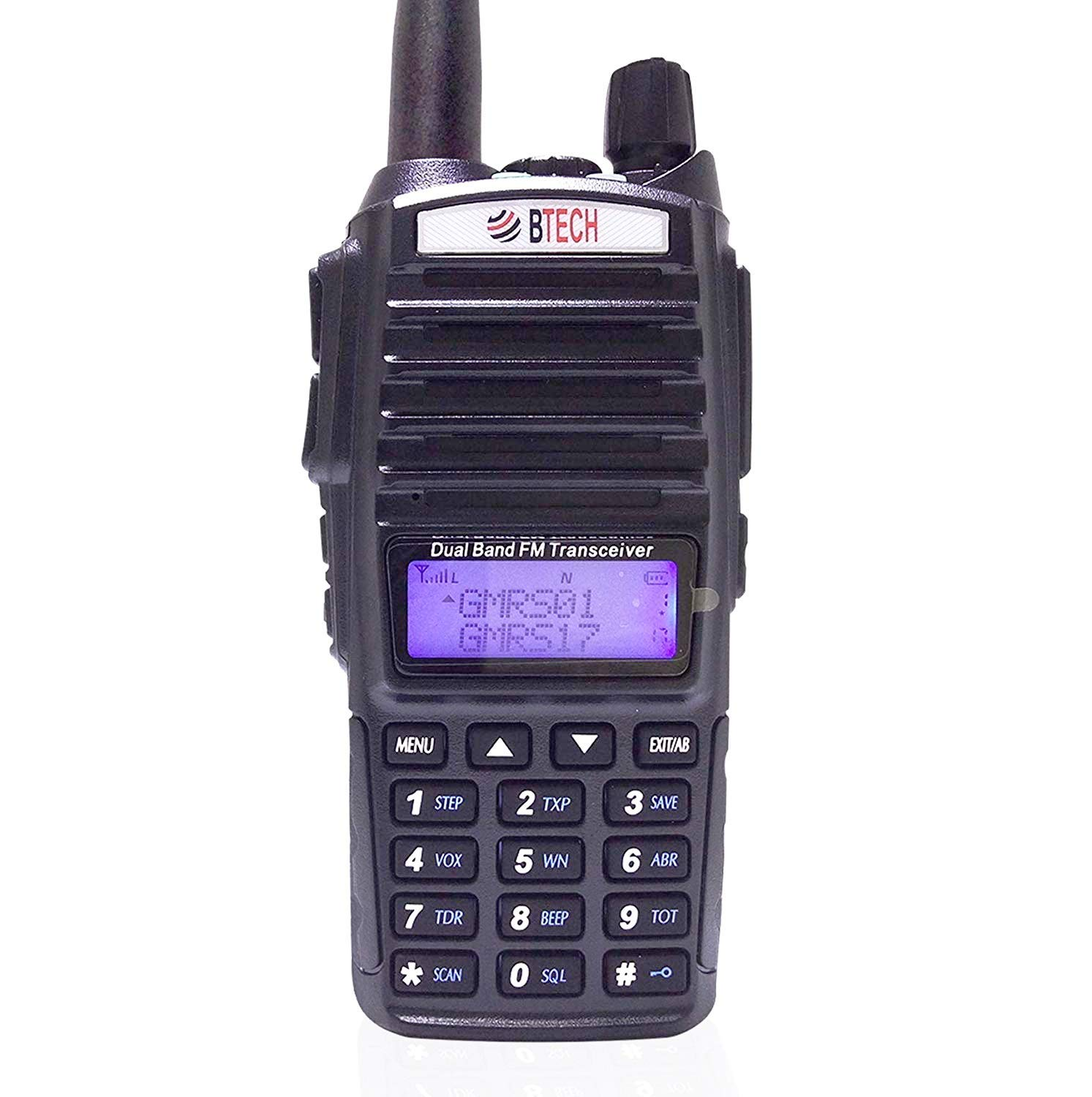 BTECH GMRS-V1 GMRS Two-Way Radio, GMRS Repeater Capable, with Dual Band Scanning Receiver (136-174.99mhz (VHF) 400-520.99mhz (UHF)) by BTECH
