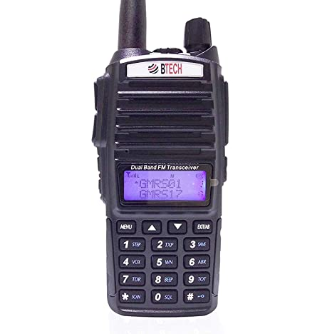 BTECH GMRS-V1 GMRS Two-Way Radio, GMRS Repeater Capable, with Dual Band  Scanning Receiver (136-174 99mhz (VHF) 400-520 99mhz (UHF))
