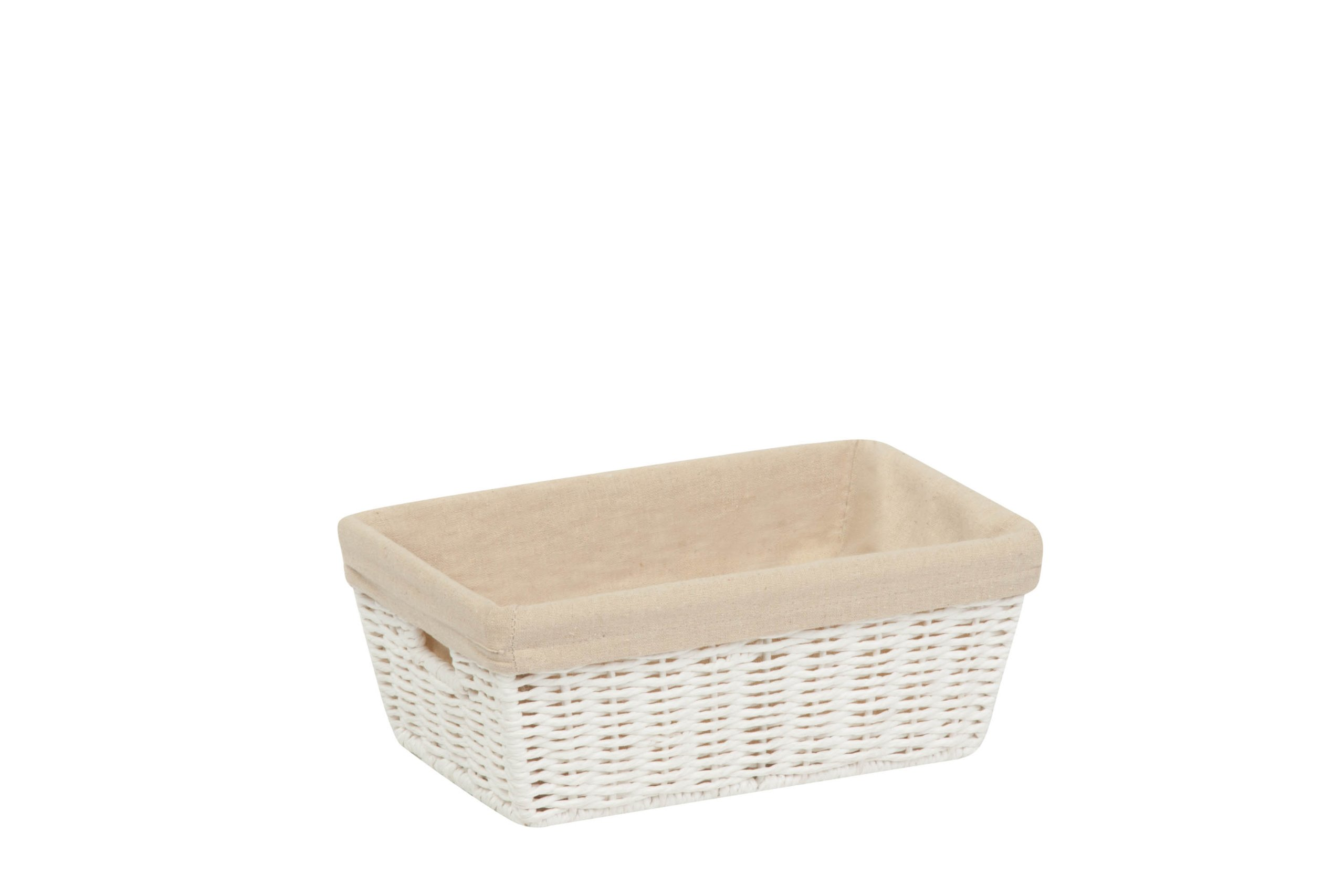 Honey-Can-Do STO-03558 Parchment Cord Basket with Handles and Liner, 6.5 by 11 by 4.5-Inch