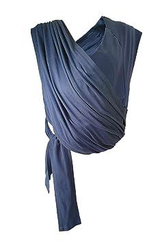 Wallaboo Babytragetuch Balance verstellbarer Schultergurt Tragetuch aus Baumwolle in Einheitsgr/ö/ße Frabe: Blau