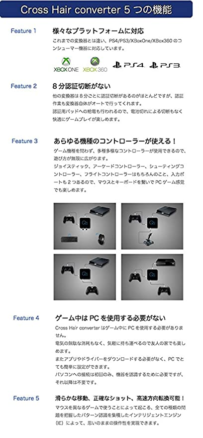 Cross Hair converter (for PS4/PS3/XBox ONE/XBox 360) - With Gam3Gear Keychain: Amazon.es: Videojuegos