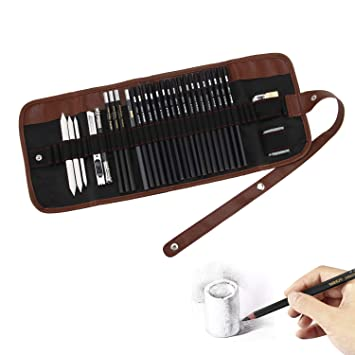 Amazon.com: Juego de lápices de dibujo, pluma de dibujo de ...