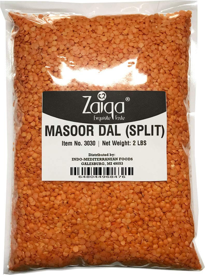 Red Split Lentils or Masoor Dal, Make Vegan Soups Pastas Stews Salad and Indian Curry Dishes | Excellent Source of Nutrition | Pacific Northwest Grown - 2 LBS