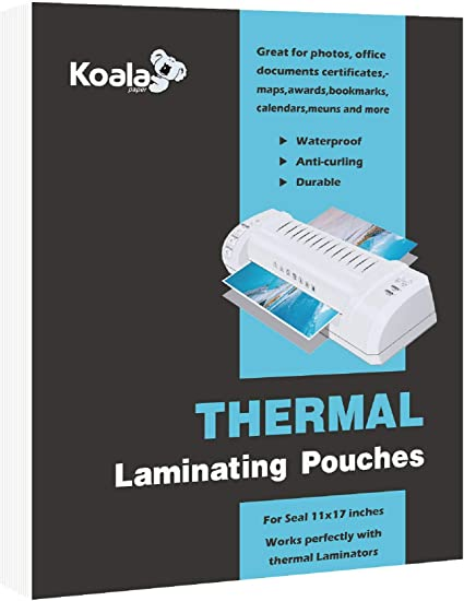 Koala Clear Thermal Laminating Pouches 5 Mil 11 5x17 5 Inches For Seal 11x17 Photos 50 Sheets Amazon Co Uk Office Products