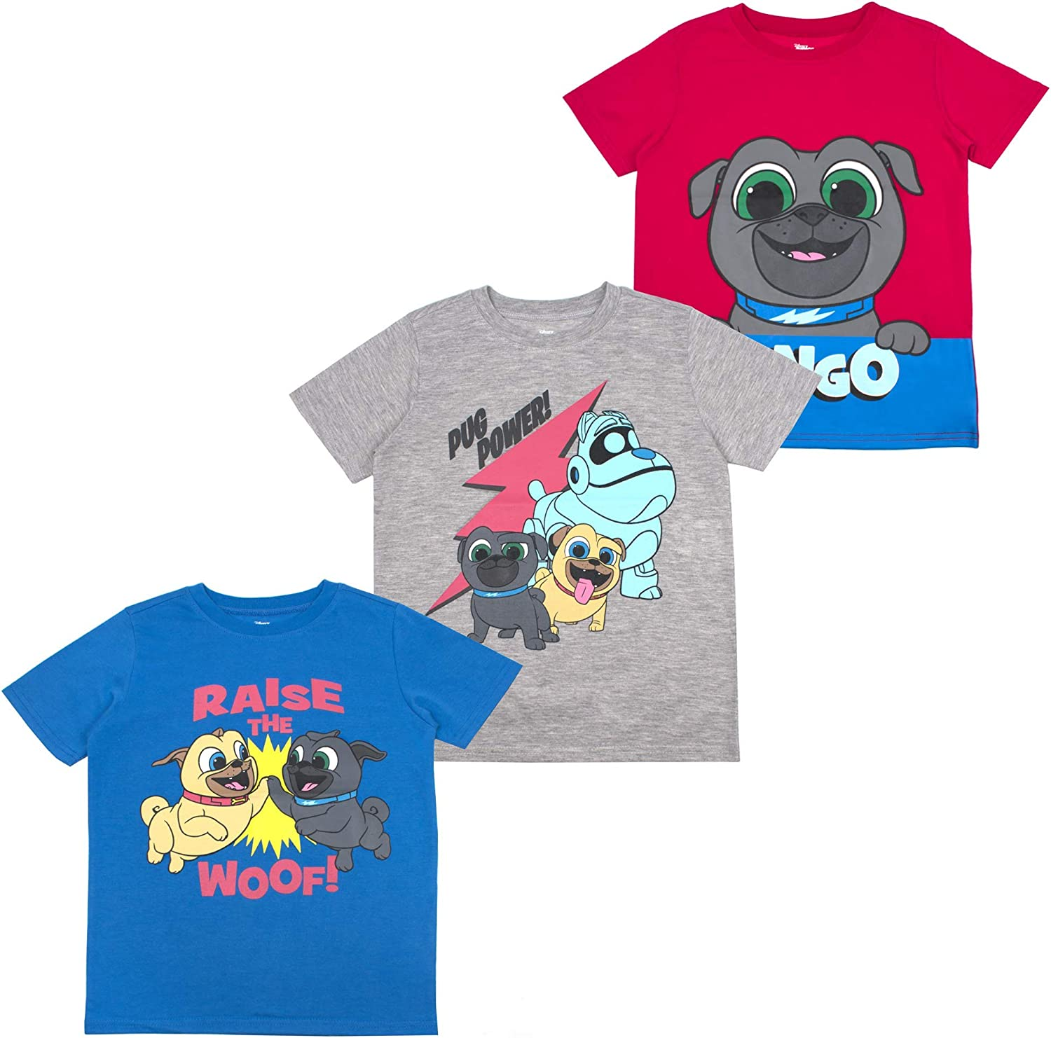 Disney Boys 3-Pack T-Shirts: Wide Variety Includes Lion King, Cars, Mickey Mouse