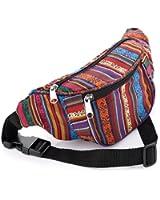 Multi Coloured Tribal Print Bum Bag / Fanny Pack - Festivals /Club Wear/ Holiday Wear