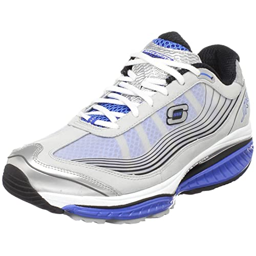 7859a09066eed Skechers - Zapatillas para hombre multicolor Gray Blue 39.5  Amazon.es   Zapatos y complementos