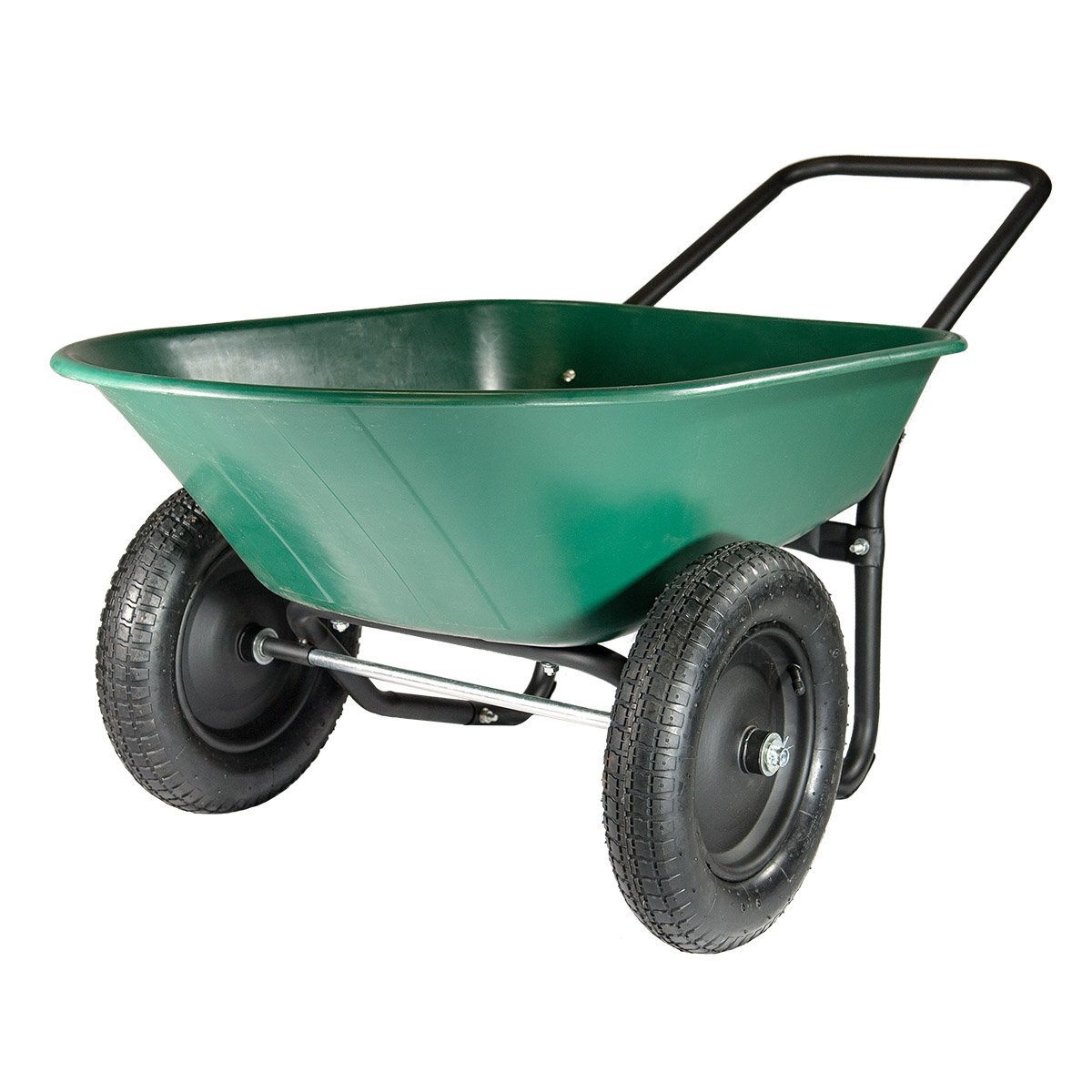 Marathon Yard Rover – 2 Tire Wheelbarrow Garden Cart - Green/Black by Marathon