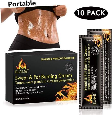 Crema caliente, Abs Extreme 4D Liposuction Body Slim Cream, Anti celulitis Abdomen Cuerpo orgánico natural Tratamiento adelgazante para moldear la cintura, Abdomen y glúteos (10 unidades/caja)