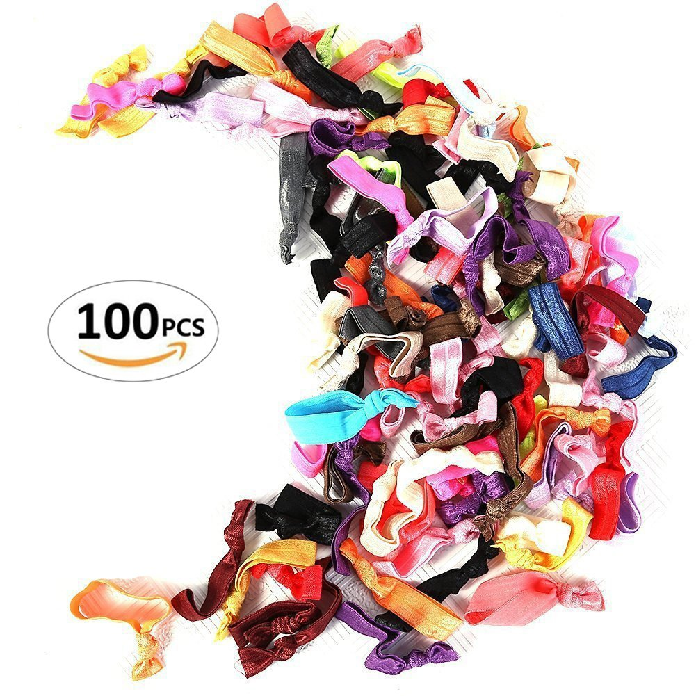Susufaa 100 Pcs / Lot Candy Color Ribbon Ponytail Holder Yoga Twist Elastic Band or Hair Ties Hair Accessories 2013newestseller SFESE15