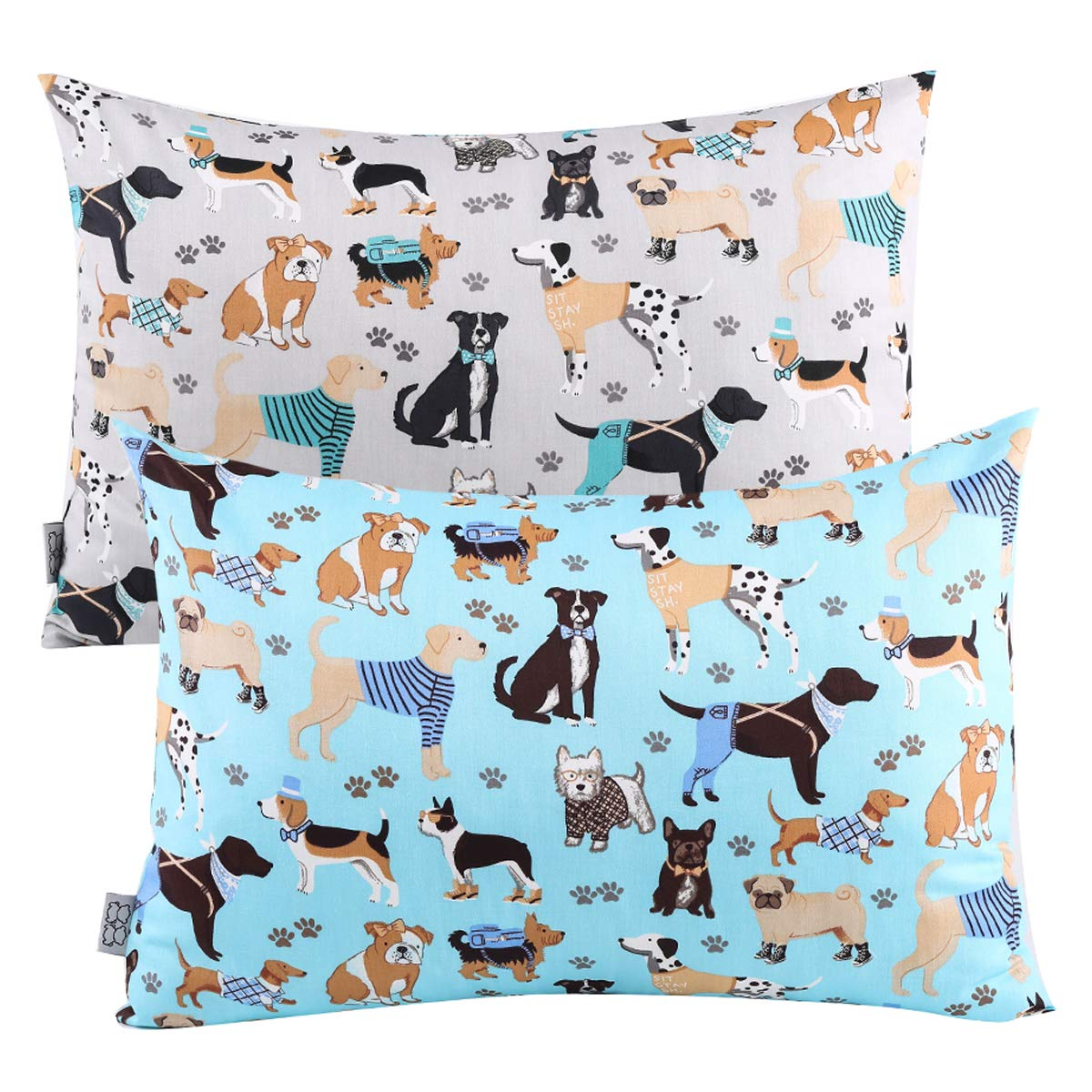 Toddler Travel Pillowcases Set of 2 - Fits Pillows sizesd 13 x 18