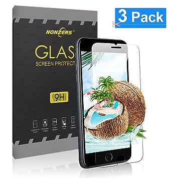 NONZERS 3-Unidades Cristal Templado para iPhone 8 iPhone 7,Protector de Pantalla 3D Touch Compatible,9H Dureza,Resistente Arañazos,Alta Definicion,Cristal ...