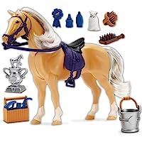 SUNNY DAYS-Entertainment), diseño con lazo, color azul Champions caballo Deluxe: Palomino Juguete