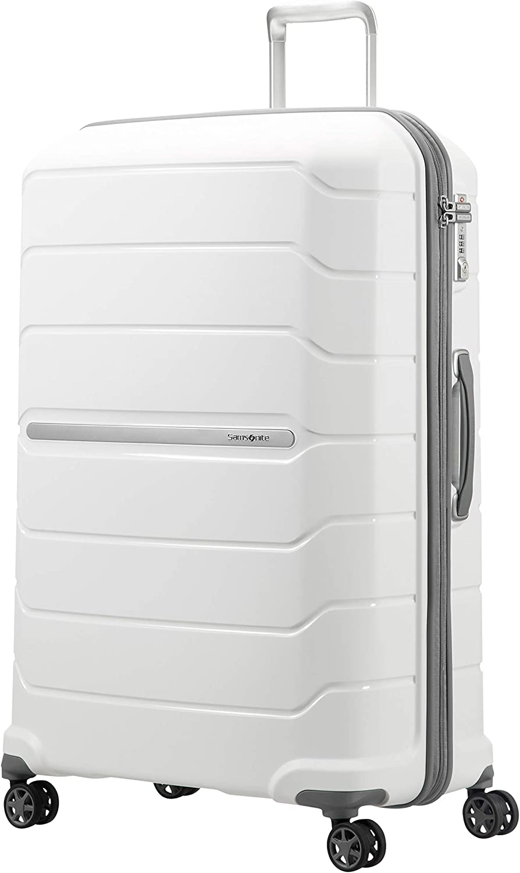 Samsonite Flux - Spinner 81/30 Expandable Equipaje de Mano, 81 cm, 145 litros, Blanco (White)